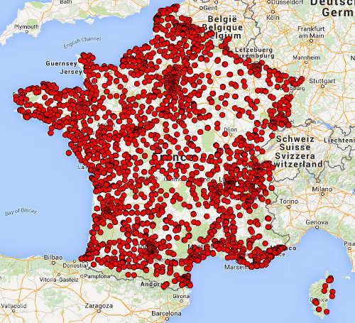 Carte des missions de une campagne de Local Eyes