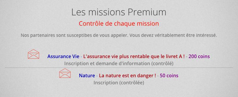 Les missions premium de Ba-click