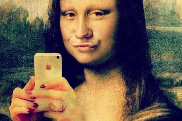 mona lisa reine du selfie