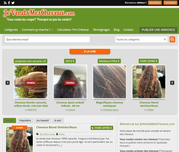 Un site où vendre ses cheveux