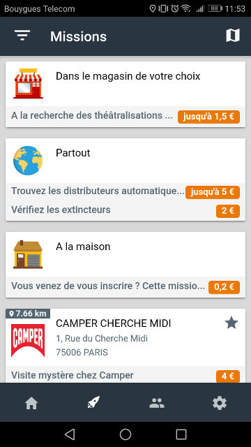 application rémunératrice mission test