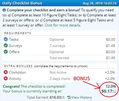 ySense bonus journalier