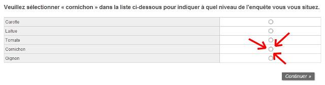 sondage rémunéré question piège