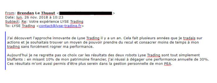 témoignage robot trader